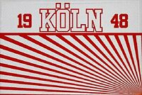 Aufnäher Köln 1948 Fahne Flagge Aufbügler Patch 9 x 6 cm