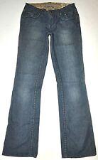 Stitch's Women's Navajo Dark Blue Boot Cut Jeans Sz 27 X 34 Long Stretch AWESOME