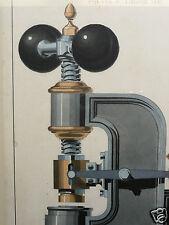 paire de dessin encre lavis industriel ancien XIX eme déco loft design vintage