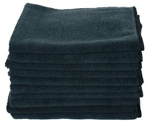 10 Pack Black Microfiber Towels All Purpose Cloth Rags Super Towel