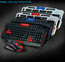 2.4GHz Wireless HK8100 Ergonomic Multimedia Gaming Keyboard + 6 Buttons Mouse