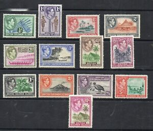 BRITISH SOLOMON ISLANDS STAMPS 1939-51 SET OF 13 SG 60/72 MINT NEVER HINGED