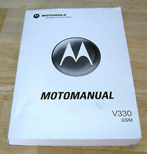 MOTOROLA MOTOMANUAL V330 GSM Flip Top Cell Phone 2005 Instruction Book