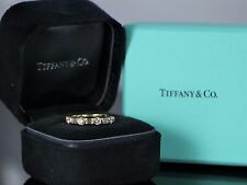 Tiffany 18K Yellow Gold 0.85ct Round Baguette Diamond Ring Wedding Band Vintage