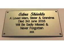 Engraved Personalised Memorial Bench Plaque