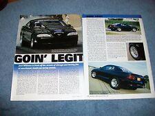 """1995 Mustang GTS Drag Car Article """"Goin' Legit"""""""