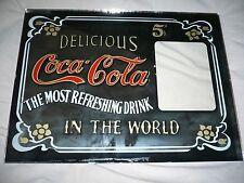 Vintage Retro Delicious Coca Cola Coke Advertising Sign Mirror Sold Drugstore