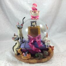 Disney Snowglobe Cats Cheshire Cat Aristocrats Figaro (As Is; Music Box Removed)