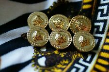 100% VERSACE buttons lot of  6   HEAD of Medusa Gold Tone metal size 14 mm