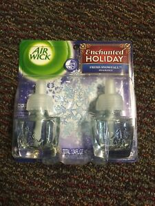 Airwick Scented Oil Refill 2 Pack Enchanted Holiday Fresh Snowfall
