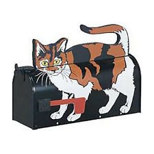 Calico Cat Mailbox Post Mount - Handmade by More Than A Mailbox