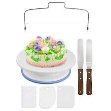 7x Tortenplatte drehbar Tortenständer Kuchen Drehteller Cake Decorating Set