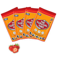 8 days Emergency Food Supply 4 x 24 pack 96 Strawberry Tablets