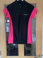 Ladies Size 14 Black And Pink Muddyfox Cycling Top