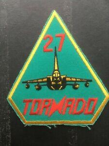 RAF Tornado GR1 27 Squadron patch. Genuine squadron patch. Mid 1980s