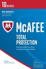 McAfee Total Protection 2017/2018 10 User/PC/Devices Internet Security