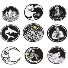 Gothic Sew On Iron On Patch Embroidered Badges Bags Hat Jeans Applique Craft HC