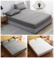 100% Egyptian Cotton Fitted Sheets Single Double King 400 500 600 thread Count