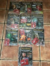 DEAGOSTINI WARHAMMER LORD OF THE RINGS BATTLE GAMES JOBLOT GAMES WORKSHOP X 10