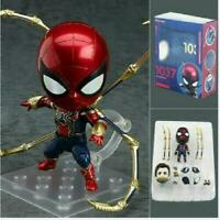 Marvel Avengers Endgame Iron Spiderman Nendoroid 1037 Spider Action Figure W/Box