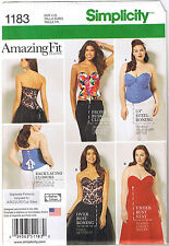 Amazing Fit Lace Up Boned Corsets Bustier Costume Sewing Pattern 10 12 14 16 18