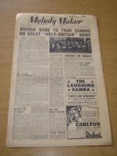 MELODY MAKER 1948 FEBRUARY 21 DON BINNEY LOUIS ARMSTRONG BBC GERALDO +