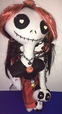 """Handmade Rag Doll Ooak Dia De Los Muertos 18"""" Day Of The Dead """"Maria"""""""