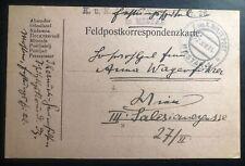 1914 Mostar Bosnia Herzegovina KUK PO Military Postcard Cover To Vienna Austria