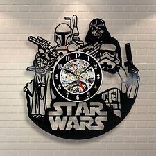 Star Wars Decor Vinyl Record Clock Star Wars Clock Modern Wall Clock Star Wars