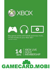14 Days Microsoft XBOX 360 LIVE Xbox 14 Days Gold Trial Code Instant Dispatch
