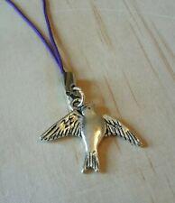 Lanyard charm for Zip Bird Swallow purple