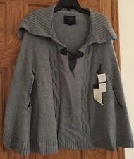 NWT Sanctuary Womens Grey Cape Sweater M Medium $138
