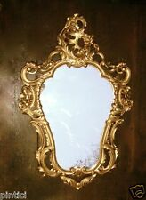 Espejo de Pared Oro 50x76 ANTIGUO Barroco Decoración Rococó Repro NUEVO