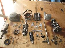 72 Suzuki GT550 Alternator Stator Oil Pump Cover & Shaft Layshaft Etc Parts Lot