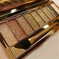 9 Colors Shimmer Diamond Eyeshadow Eye Shadow Palette Makeup Cosmetic Brush XMAS