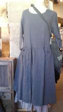 TALIA BENSON L  robe lin grise  shabby, romantique, pearl, campagne