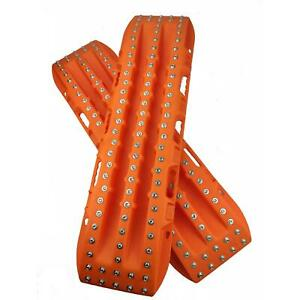 RECOVERY TRACKS 10T with METAL STUDS off road 4 x 4 traction mats SNOW MUD SAND