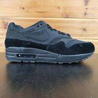 NIKE AIR MAX 1 WOMEN'S SHOES TRIPLE BLACK SUEDE 319986 045 Sneakers