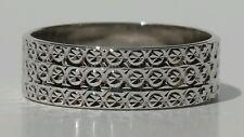 Diamond Cut Sterling Silver Band Size 6.5