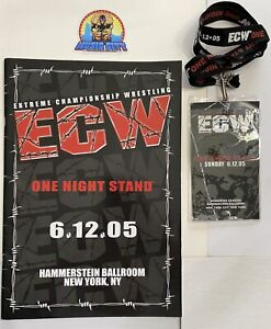 2005 ECW One Night Stand Official PPV Program & Lanyard WWE RARE