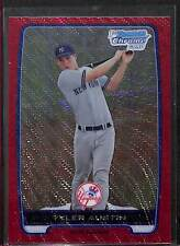 2012 Bowman Chrome Prospects Red Wave Refractor #BCP17 Tyler Austin No 10 of 25