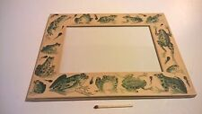 Scarce Matthew Rice paper & mylar photo frame printed Frogs theme England made