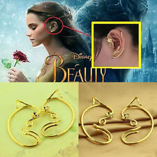 Beauty & the Beast Earrings Ear Cuff Belle Jewelry Gold Plated Rose Cosplay Gift