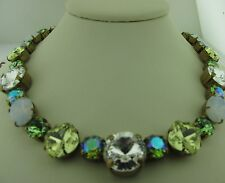Sorrelli Green Apple Necklace NCP38AGGA Antique gold tone
