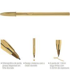 5 boligrafos  BIC CRISTAL SHINE COLOR ORO   .  tinta color dorado , gold ink.