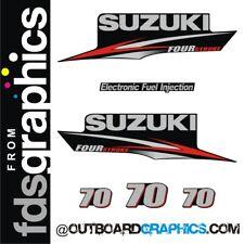 Suzuki DF70 four stroke outboard engine decals/sticker kit
