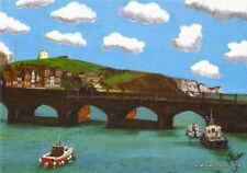 FOLKESTONE INNER HARBOUR KENT OPEN EDITION PRINT BY MICHAEL PRESTON