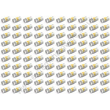 100 x Yellow 12v 10mm T10 Wedge Base LED Bulbs for Arcade Push Buttons - MAME