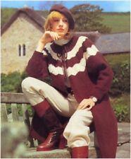 Ladies' Chunky Patterned Yoke Edge-to-edge Coat Knitting Pattern 10183