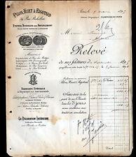 """PARIS (II°) BRODERIES ETOFFES d'AMEUBLEMENT """"PILON , HUET & RIGOTARD"""" en 1895"""